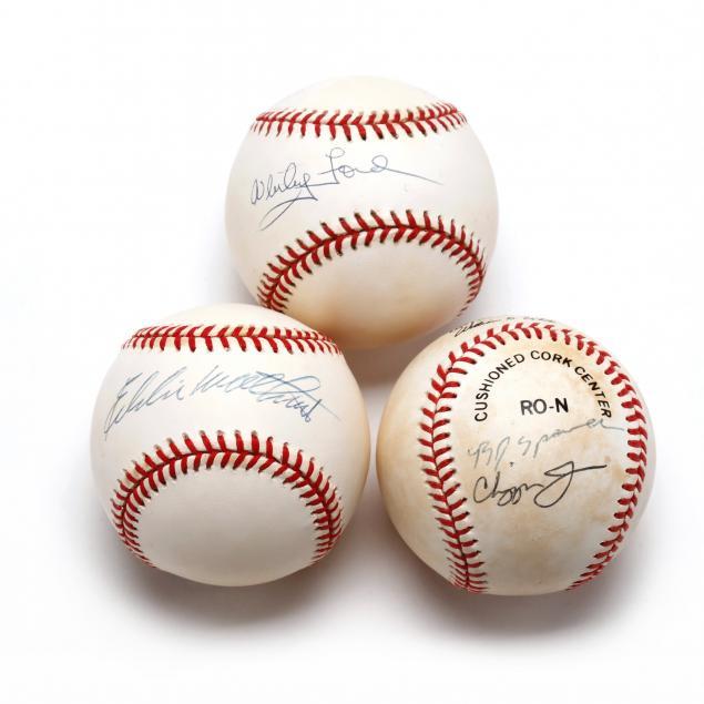 three-autographed-baseballs-eddie-mathews-chipper-jones-and-whitey-ford