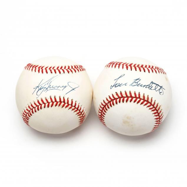 two-autographed-baseballs-ken-griffey-jr-and-lew-burdette
