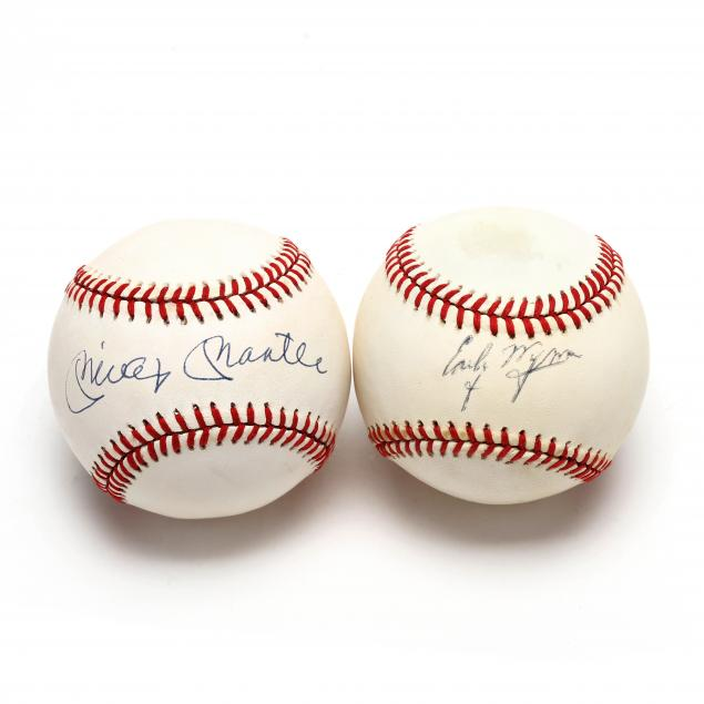 two-autographed-baseballs-mickey-mantle-and-early-wynn
