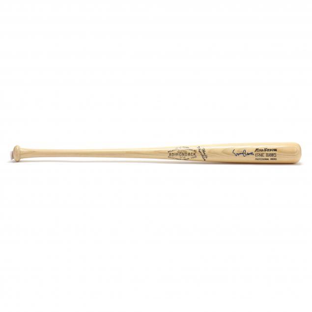 ernie-banks-autographed-big-stick-bat