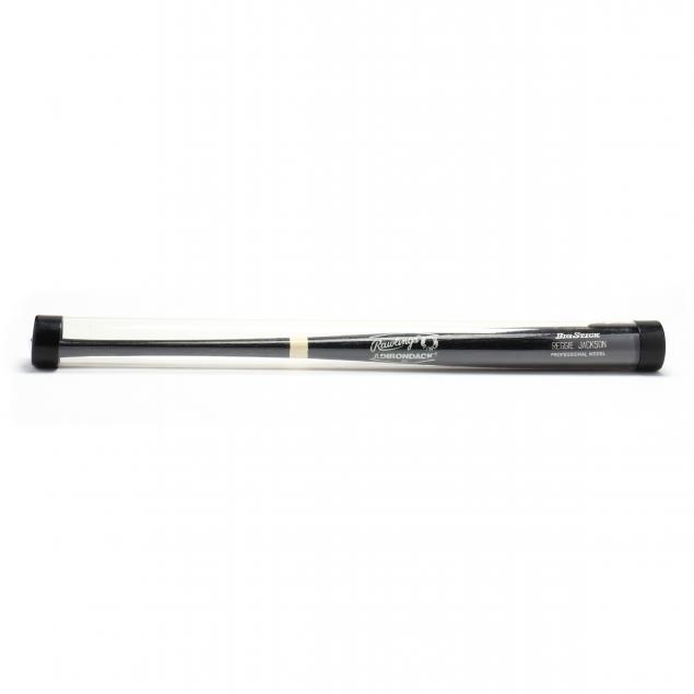reggie-jackson-autographed-black-big-stick-bat-with-coa
