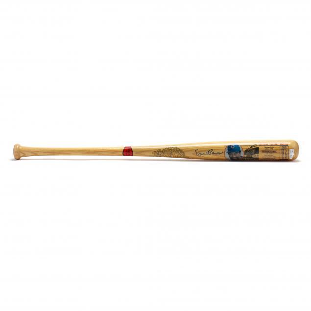ernie-banks-autographed-cooperstown-bat