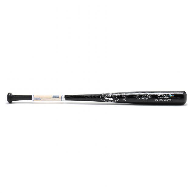 derek-jeter-autographed-black-louisville-slugger-bat-with-coa
