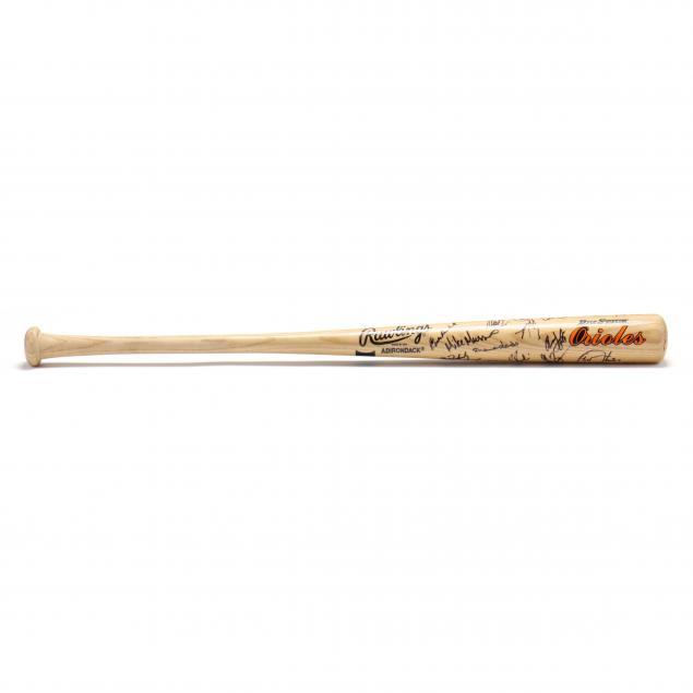 cal-ripken-orioles-team-autographed-bat