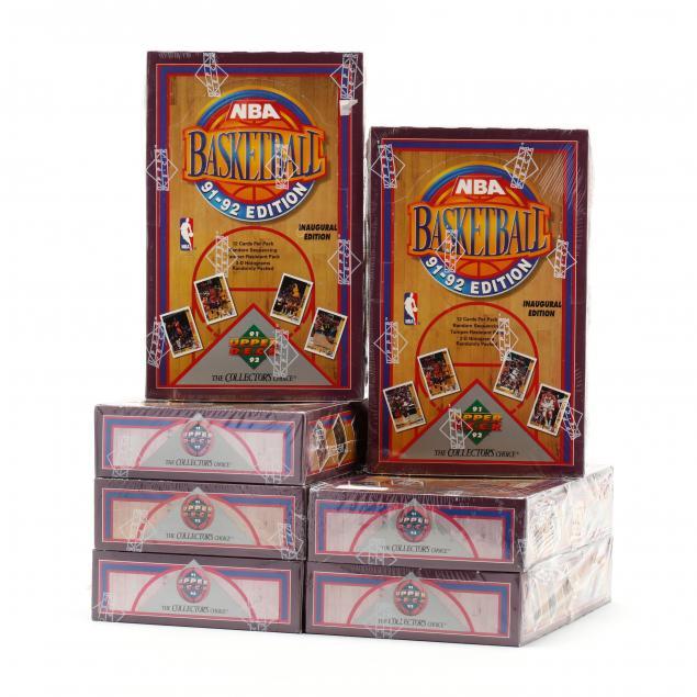 seven-1991-92-upper-deck-nba-basketball-trading-cards-boxes