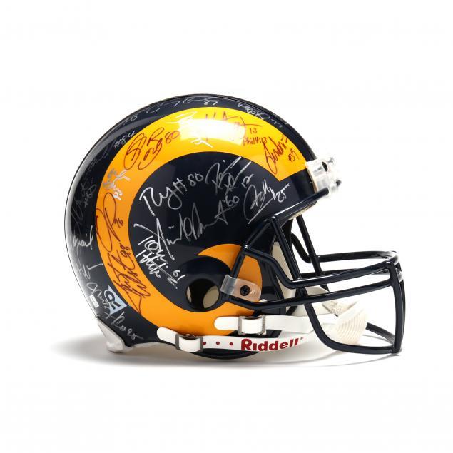 kurt-warner-team-signed-st-louis-rams-helmet