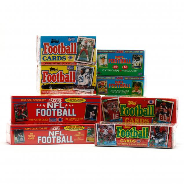 eight-boxed-sets-of-1989-and-1990-nfl-football-cards