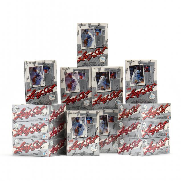 fourteen-boxes-series-i-and-ii-the-leaf-set-baseball-cards