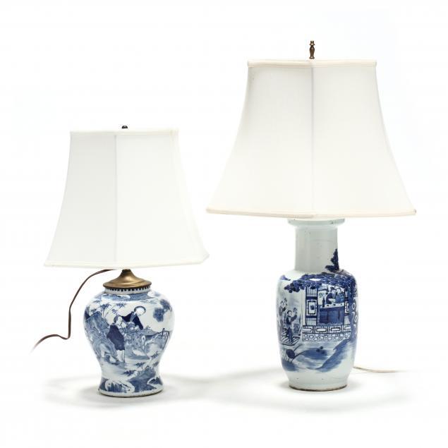 two-chinese-blue-white-porcelain-vases