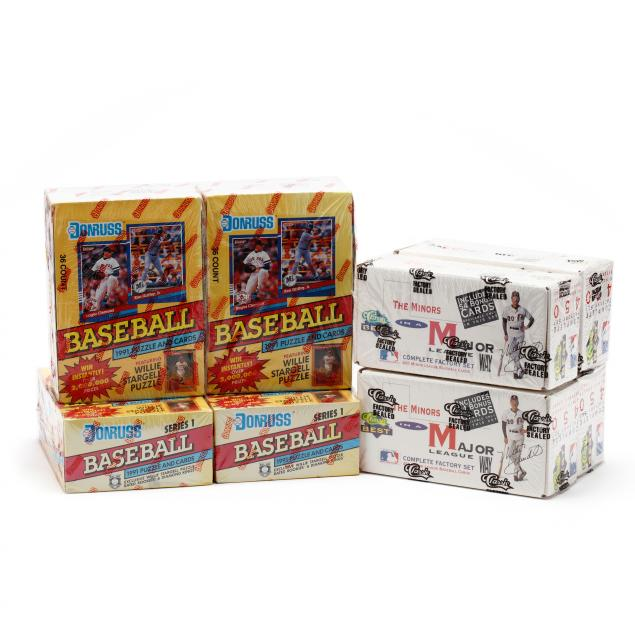 eight-boxes-of-baseball-cards-the-minors-and-donruss-1991-series-i