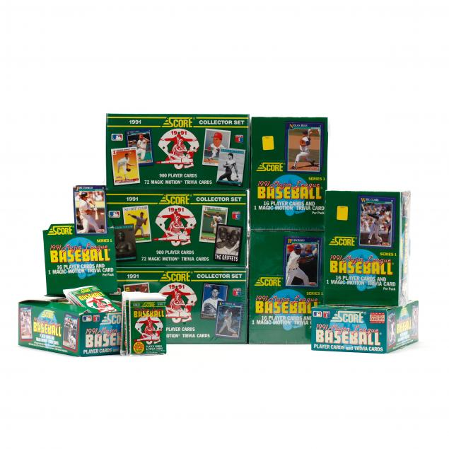 eight-boxes-of-score-1991-baseball-cards