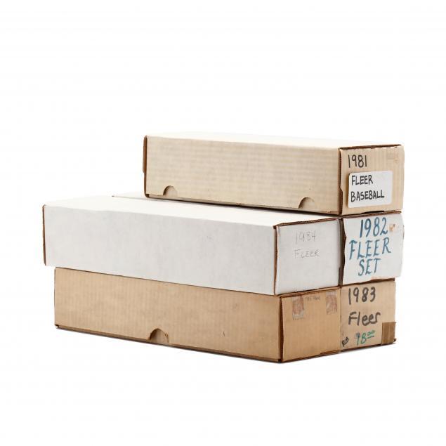 five-fleer-boxed-baseball-sets-1981-85