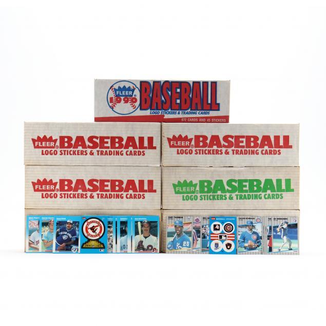 seven-fleer-1980-90s-baseball-card-boxed-sets