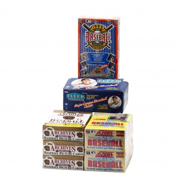 seven-1990s-boxed-baseball-cards-fleer-score-upper-deck-and-topps
