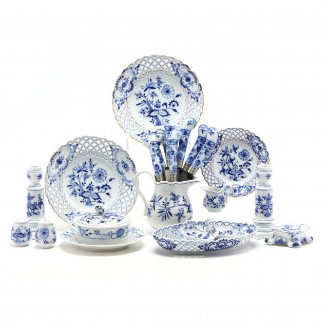 a-collection-of-meissen-blue-onion-porcelain