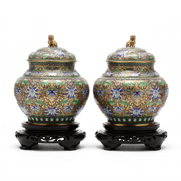 a-pair-of-chinese-champleve-covered-jars-on-stands
