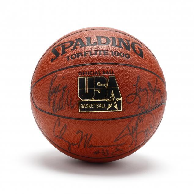 psa-dna-certified-1994-usa-olympic-team-autographed-basketball