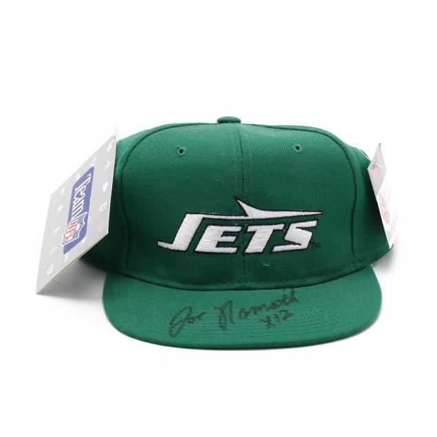 joe-namath-autographed-new-york-jets-baseball-cap-with-coa