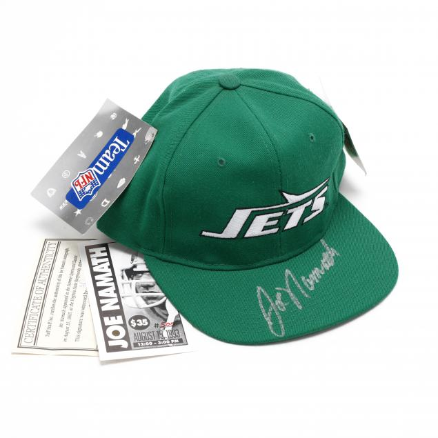 joe-namath-autographed-new-york-jets-cap-with-coa
