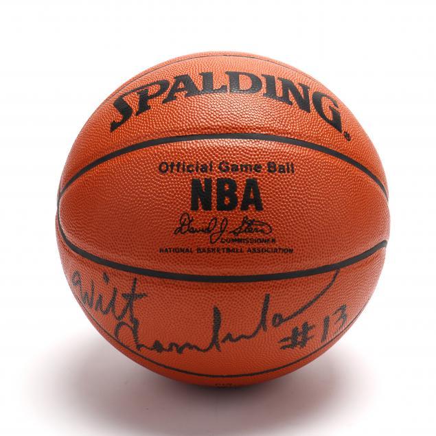 wilt-chamberlain-13-autographed-nba-basketball