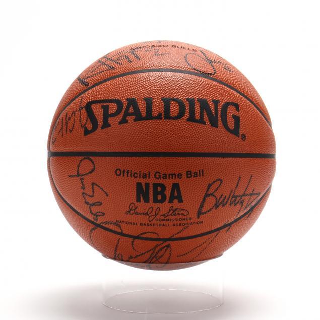 chicago-bulls-team-signed-nba-basketball