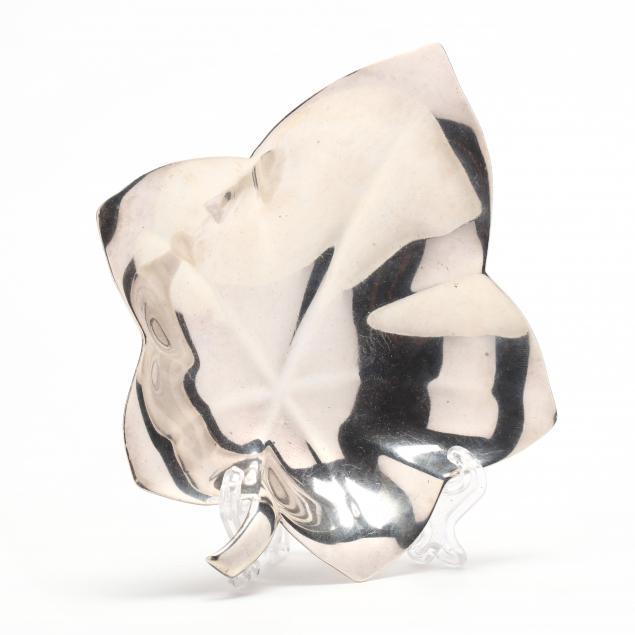 a-tiffany-co-sterling-silver-leaf-dish