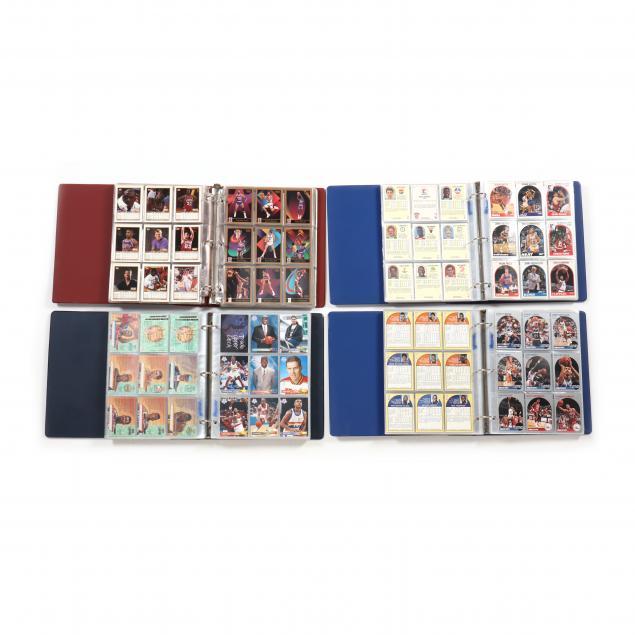 four-nba-basketball-collector-card-albums