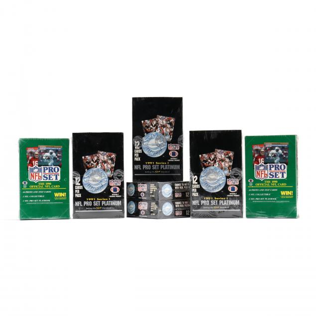 seven-factory-sealed-1990-91-nfl-pro-card-sets