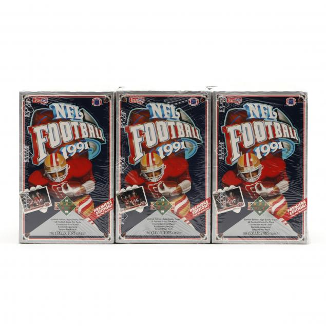 twelve-upper-deck-1991-nfl-collector-s-choice-sealed-card-boxes