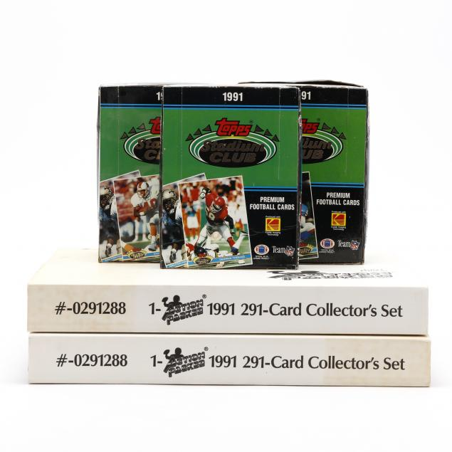 seven-1991-topps-and-action-packed-nfl-football-sets