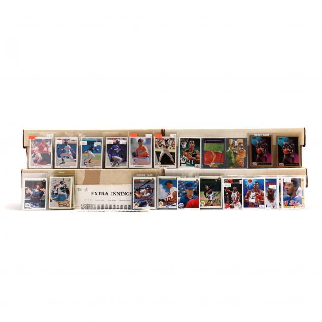 four-boxes-of-1990-91-baseball-and-basketball-cards-ud-skybox-leaf