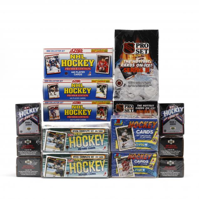 fifteen-factory-sealed-1990-91-nhl-hockey-card-boxes