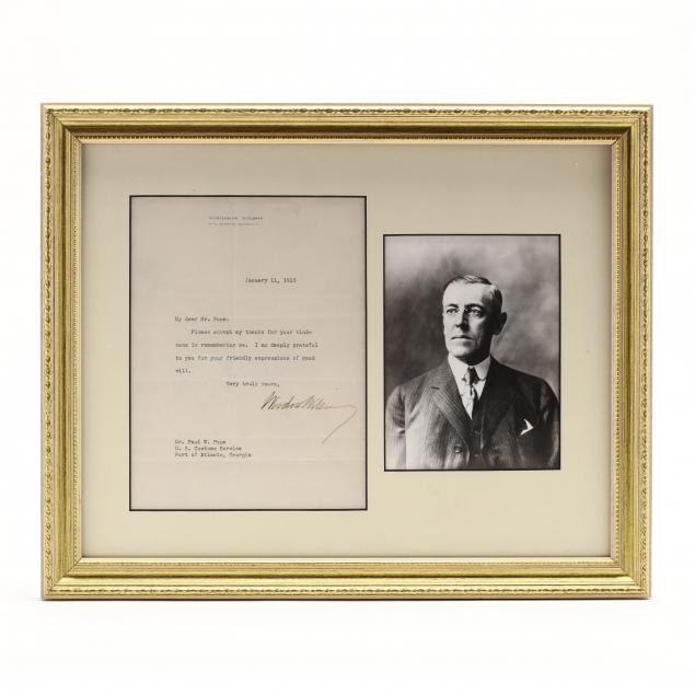 28th-u-s-president-woodrow-wilson-typed-letter-signed
