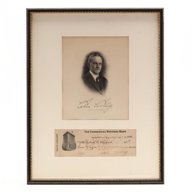 30th-u-s-president-calvin-coolidge-signed-check-as-president