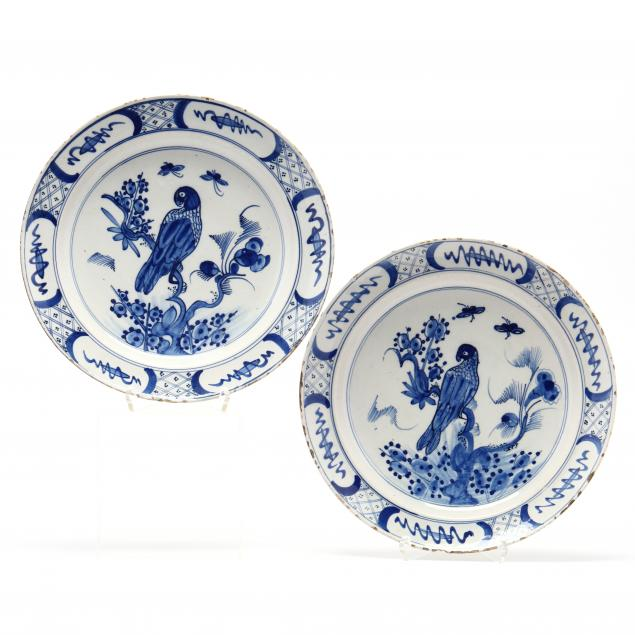 a-pair-of-delft-chargers-with-bird-decoration