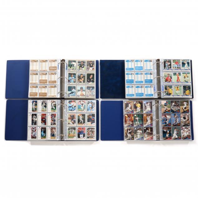 four-baseball-card-albums-1983-1984-1991-and-1993