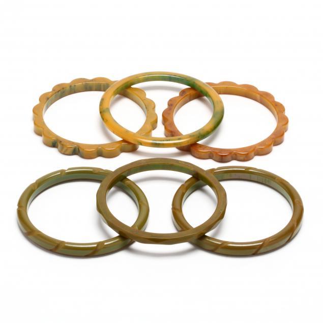 six-green-bakelite-bangles