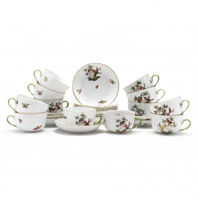 herend-rothschild-bird-cups-and-saucers
