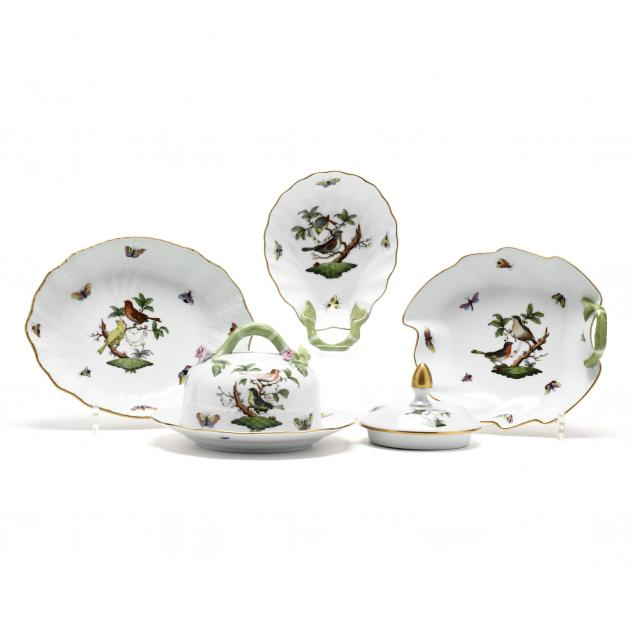 four-herend-rothschild-bird-serving-accessories