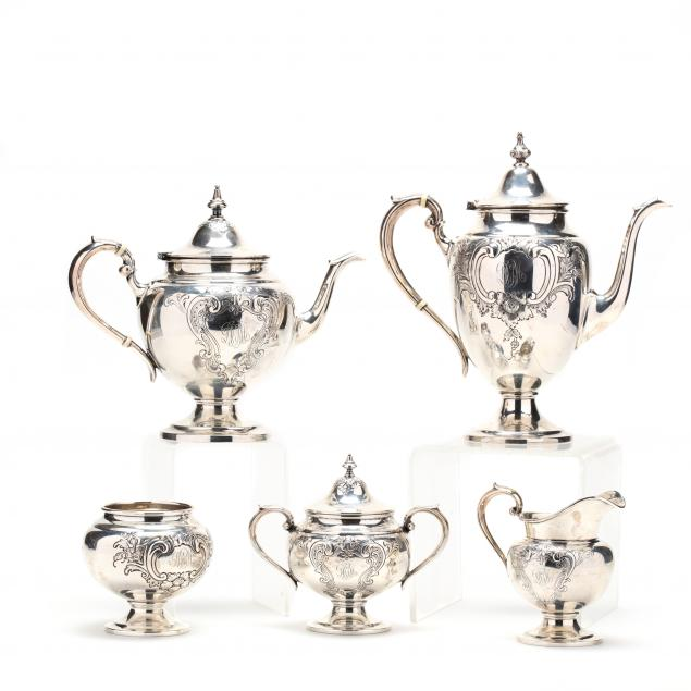 gorham-puritan-chased-sterling-silver-tea-coffee-service
