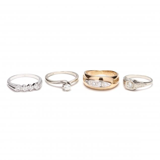 four-gold-and-diamond-rings