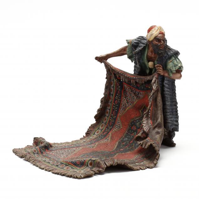 a-franz-bergman-cold-painted-bronze-carpet-seller