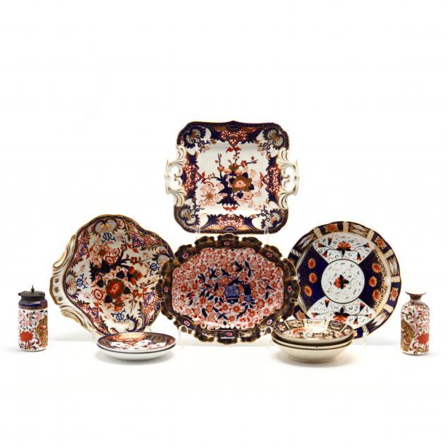 an-assortment-of-imari-pattern-porcelain