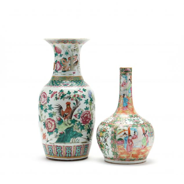 two-antique-chinese-porcelain-famille-rose-vases