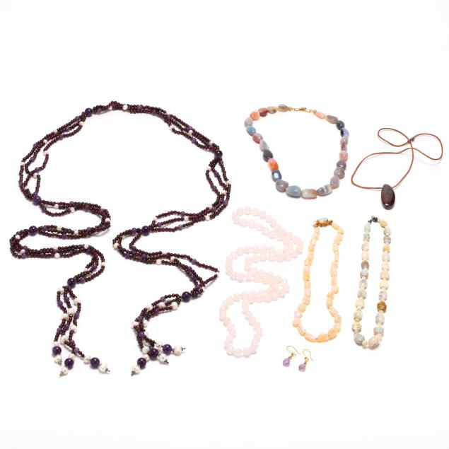 group-of-gemstone-bead-jewelry