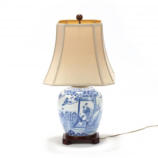 a-chinese-blue-and-white-large-jar-lamp