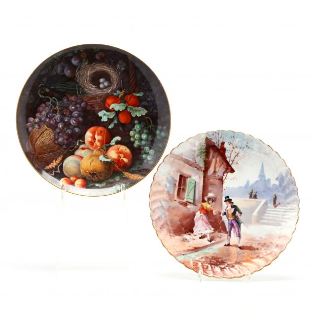 two-hand-painted-porcelain-chargers