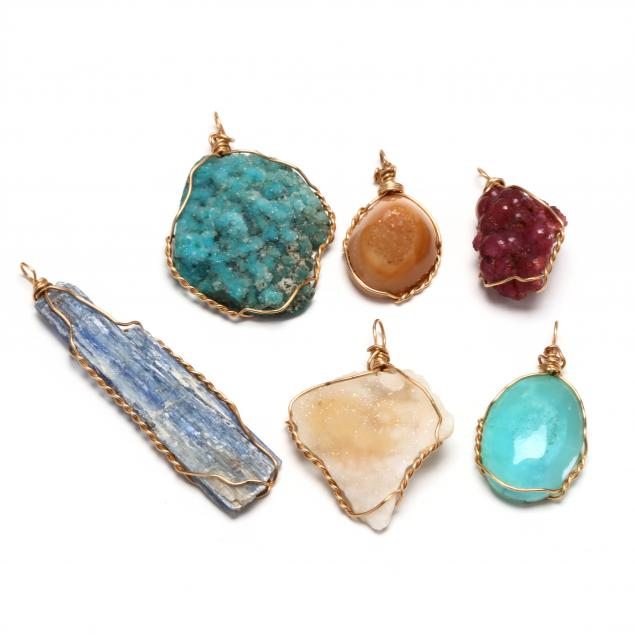 six-gold-gemstone-pendants