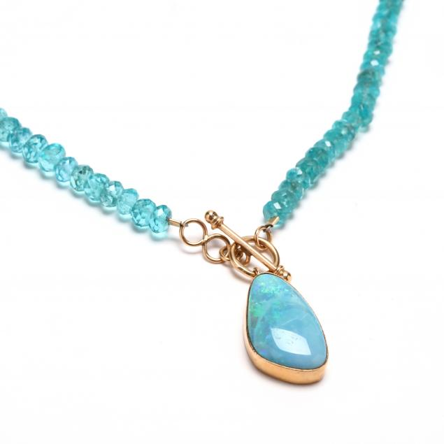 14kt-gold-opal-and-apatite-necklace