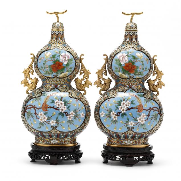 a-pair-of-chinese-cloisonne-and-champleve-double-gourd-vases